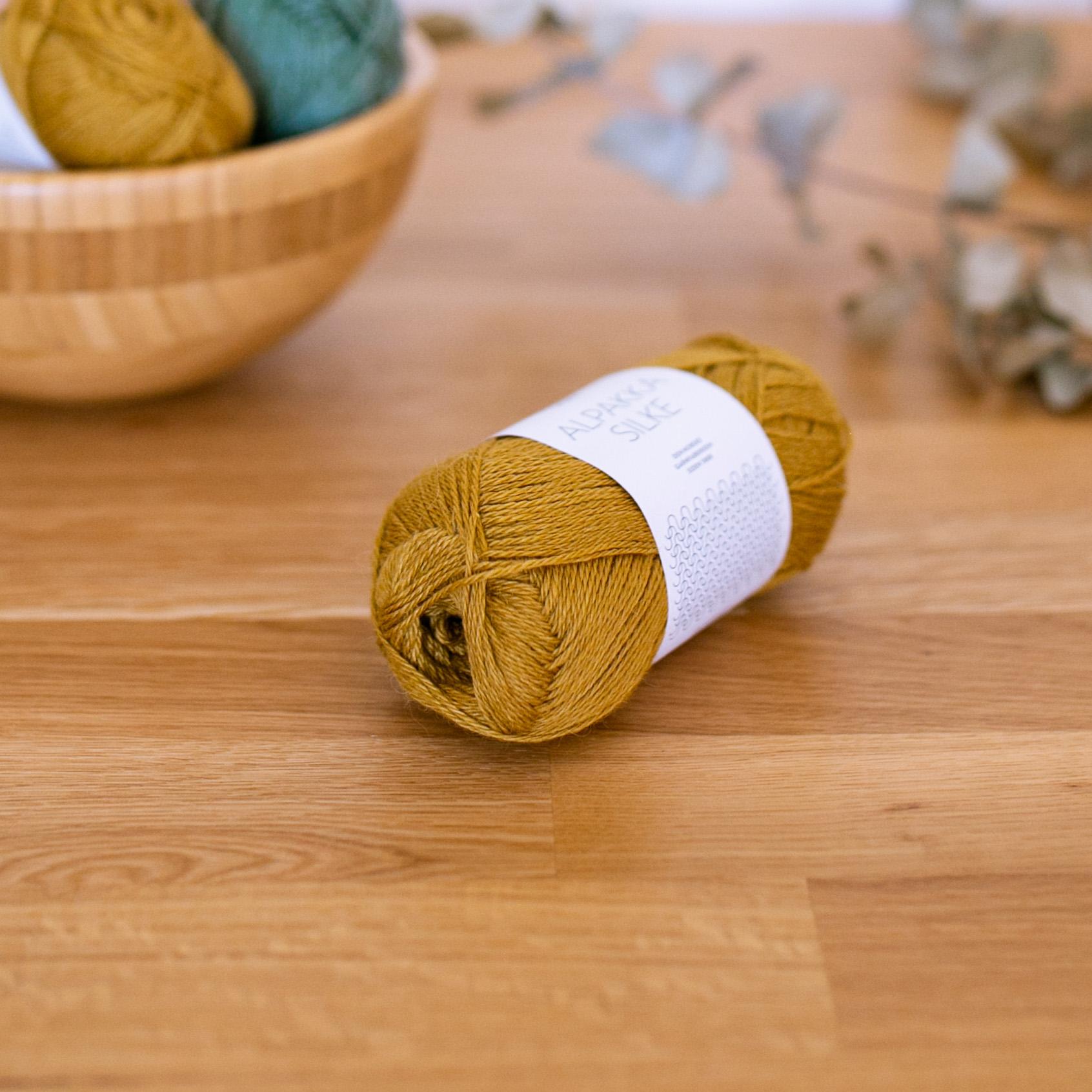 Alpakka Silke - Sandnes Garn in der Farbe col.2135 ochre