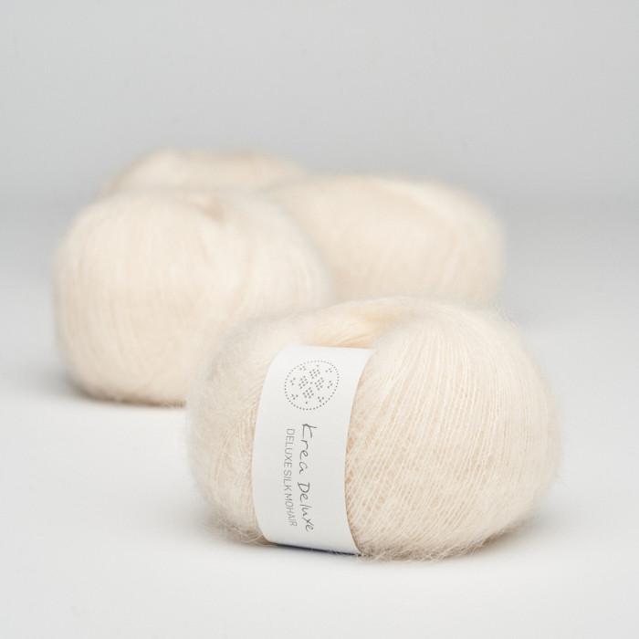 Deluxe Silk Mohair - Krea Deluxe in der Farbe 02 Cream