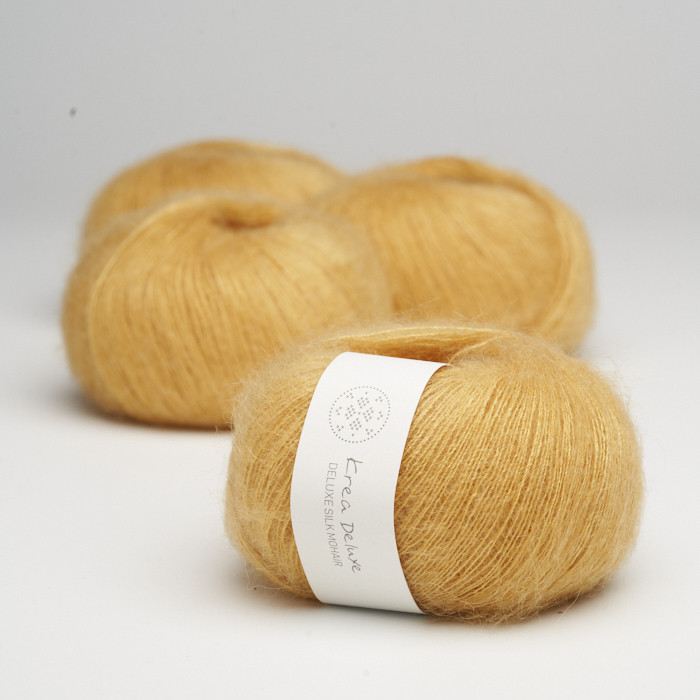 Deluxe Silk Mohair - Krea Deluxe in der Farbe 06 Dunkelgelb