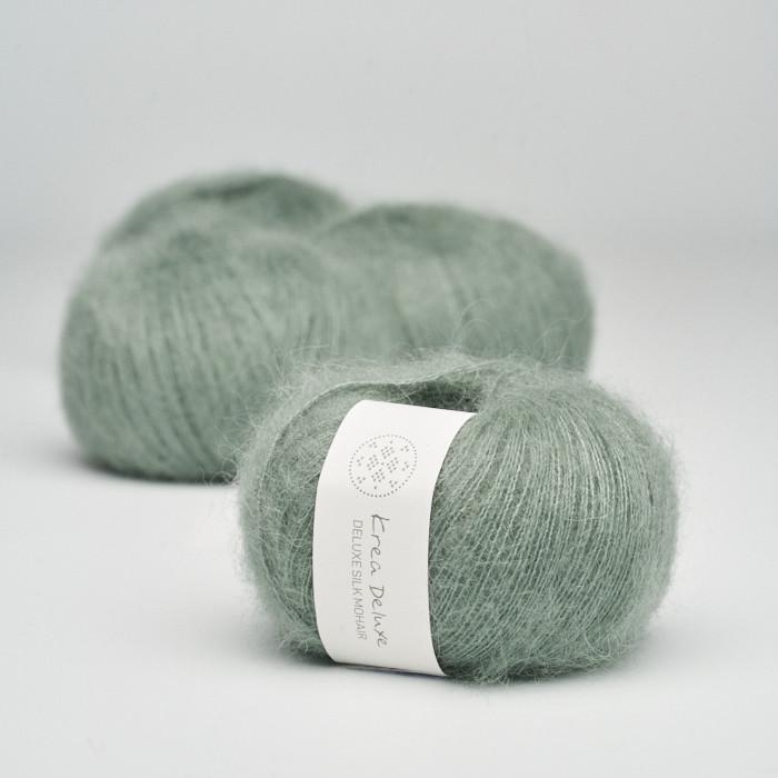 Deluxe Silk Mohair - Krea Deluxe in der Farbe 33 Schmutziges Grün