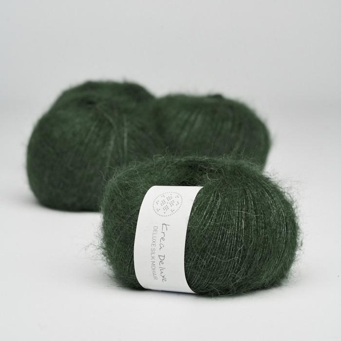 Deluxe Silk Mohair - Krea Deluxe in der Farbe 36 Dunkelgrün