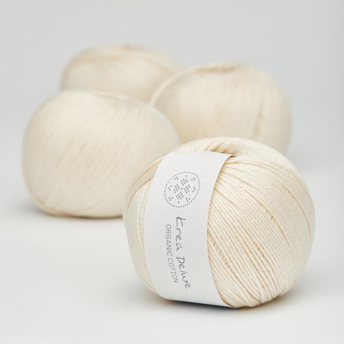 Organic Cotton - Krea Deluxe in der Farbe 02 Cream