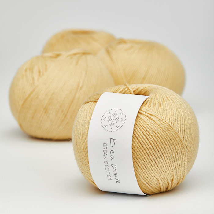 Organic Cotton - Krea Deluxe in der Farbe 05 Gelb
