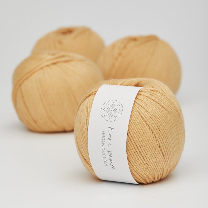 Organic Cotton - Krea Deluxe in der Farbe 06 Dunkelgelb