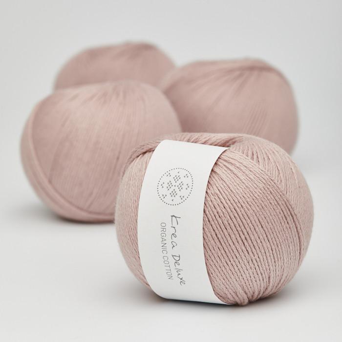 Organic Cotton - Krea Deluxe in der Farbe 14 Helles Altrosa