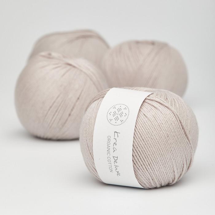 Organic Cotton - Krea Deluxe in der Farbe 17 Warmes Hellgrau