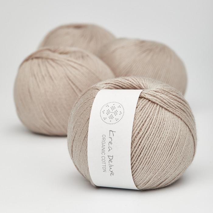 Organic Cotton - Krea Deluxe in der Farbe 18 Zartes Braun
