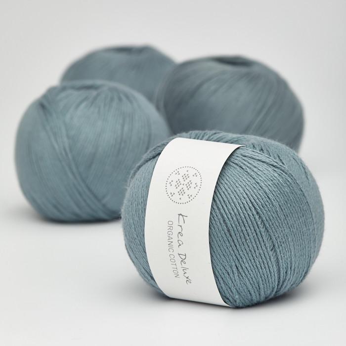 Organic Cotton - Krea Deluxe in der Farbe 21 Schmutziges Blau