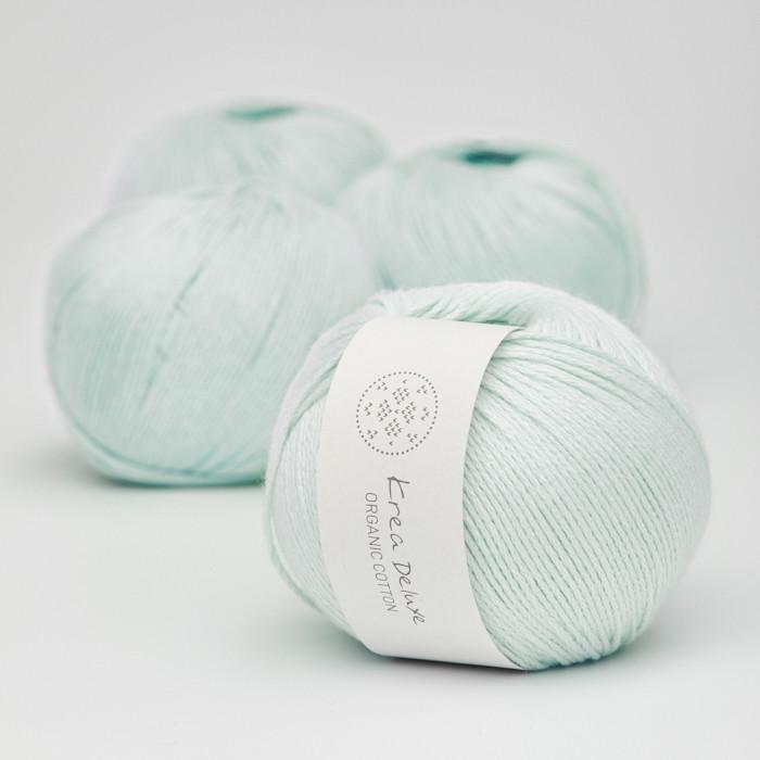 Organic Cotton - Krea Deluxe in der Farbe 24 Helles Eisblau