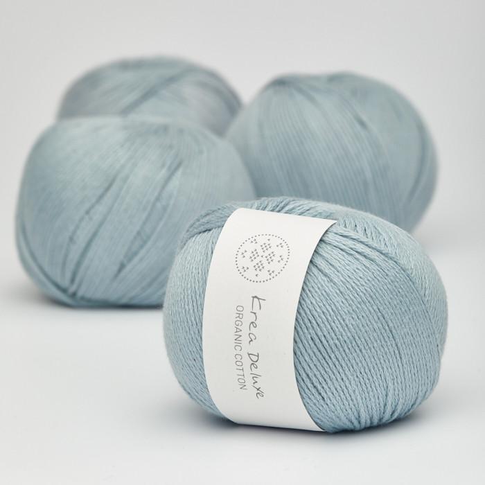 Organic Cotton - Krea Deluxe in der Farbe 25 Schmutziges Hellblau
