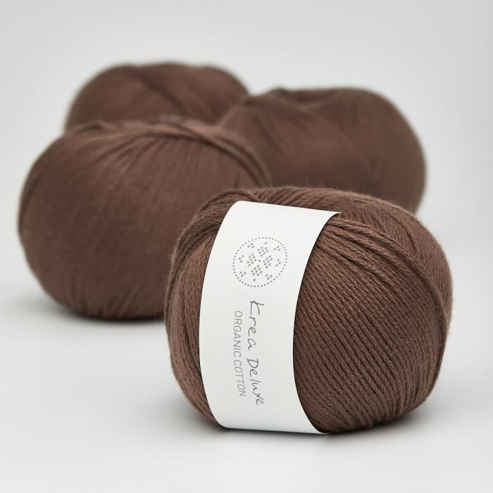 Organic Cotton - Krea Deluxe in der Farbe 29 Dunkelbraun