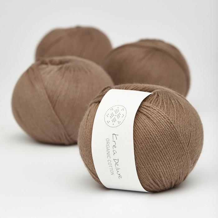 Organic Cotton - Krea Deluxe in der Farbe 30 Braun