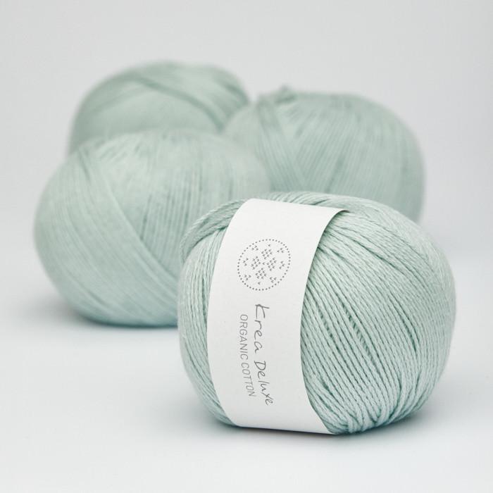 Organic Cotton - Krea Deluxe in der Farbe 32 Mintgrün