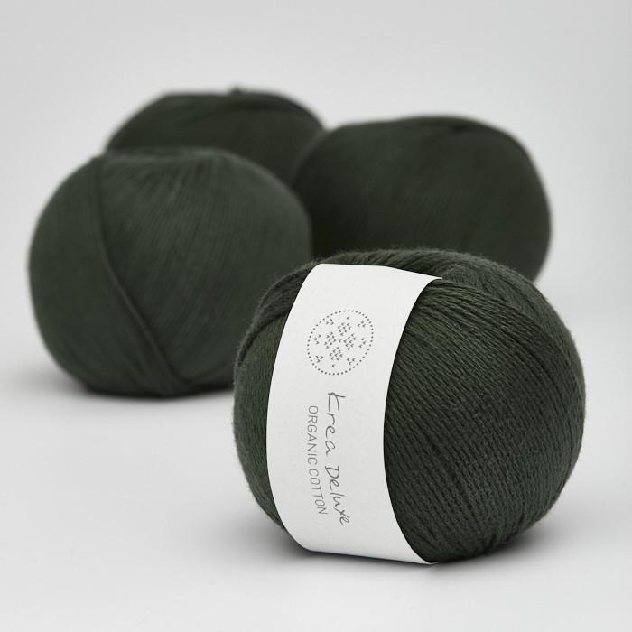 Organic Cotton - Krea Deluxe in der Farbe 36 Armeegrün