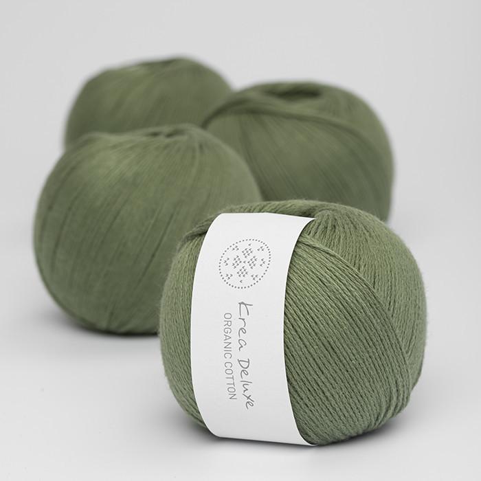 Organic Cotton - Krea Deluxe in der Farbe 42 Moosgrün