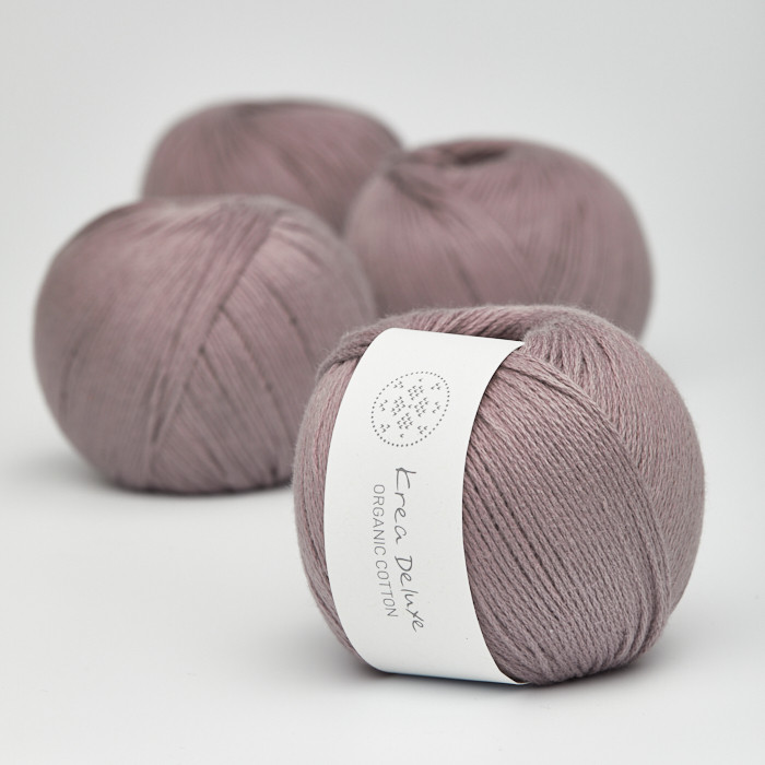 Organic Cotton - Krea Deluxe in der Farbe 44 Schmutziges Lavendel