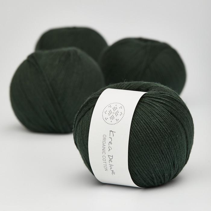 Organic Cotton - Krea Deluxe in der Farbe 45 Flaschengrün