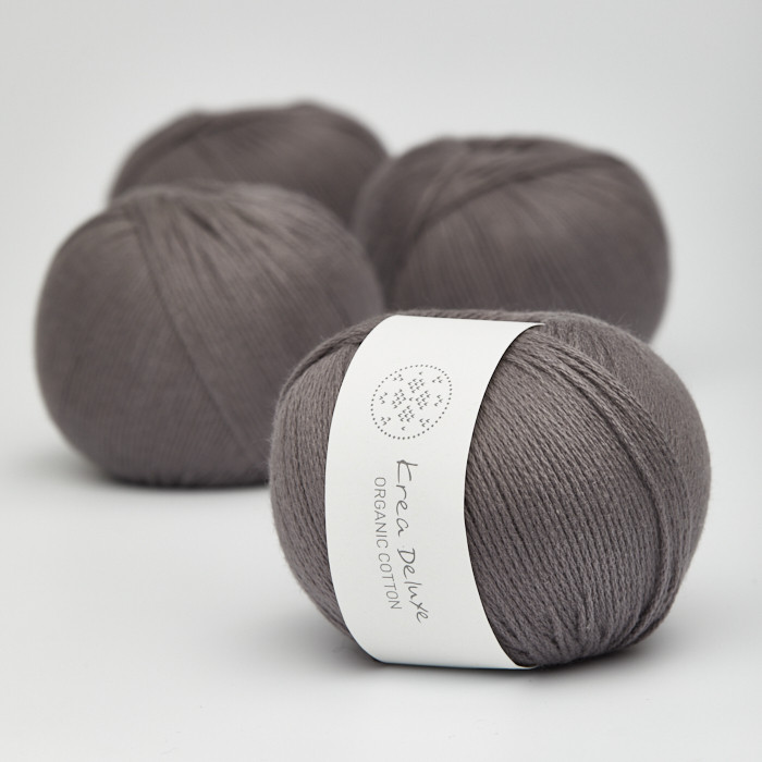 Organic Cotton - Krea Deluxe in der Farbe 50 Dunkelgrau
