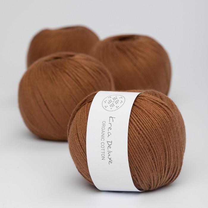 Organic Cotton - Krea Deluxe in der Farbe 52 Cognacfarben