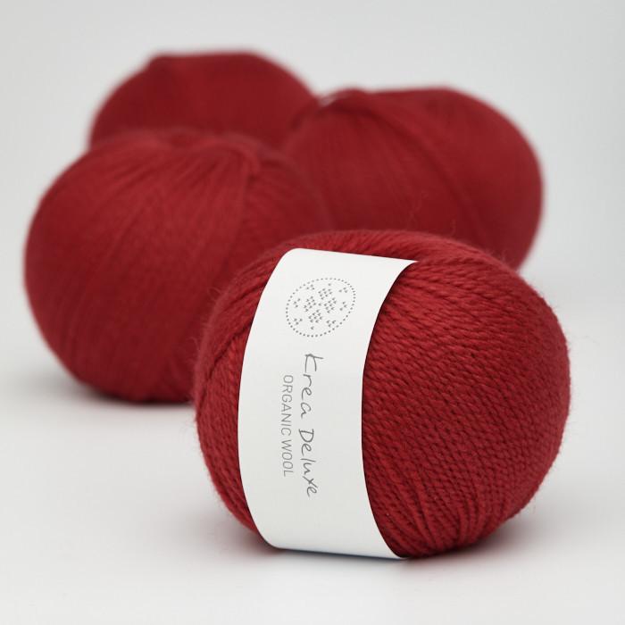 Organic Wool 1 (Neu) - Krea Deluxe in der Farbe W 35 Rot