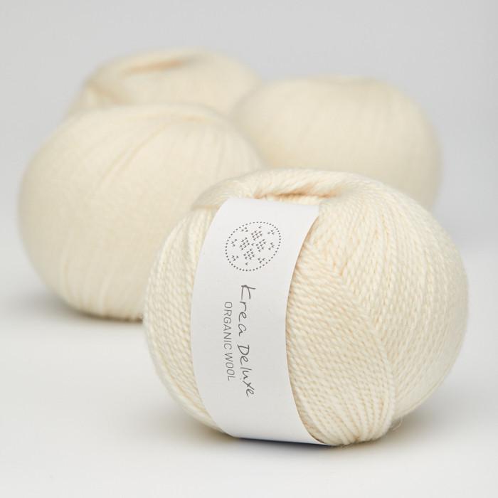 Organic Wool 1 (Neu) - Krea Deluxe in der Farbe W 02 Cream