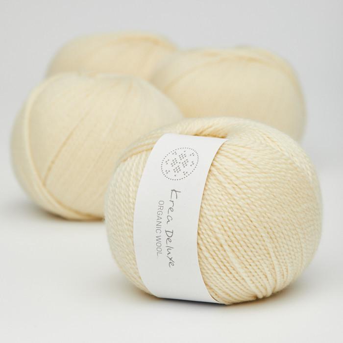 Organic Wool 1 (Neu) - Krea Deluxe in der Farbe W 03 Zart Hellgelb