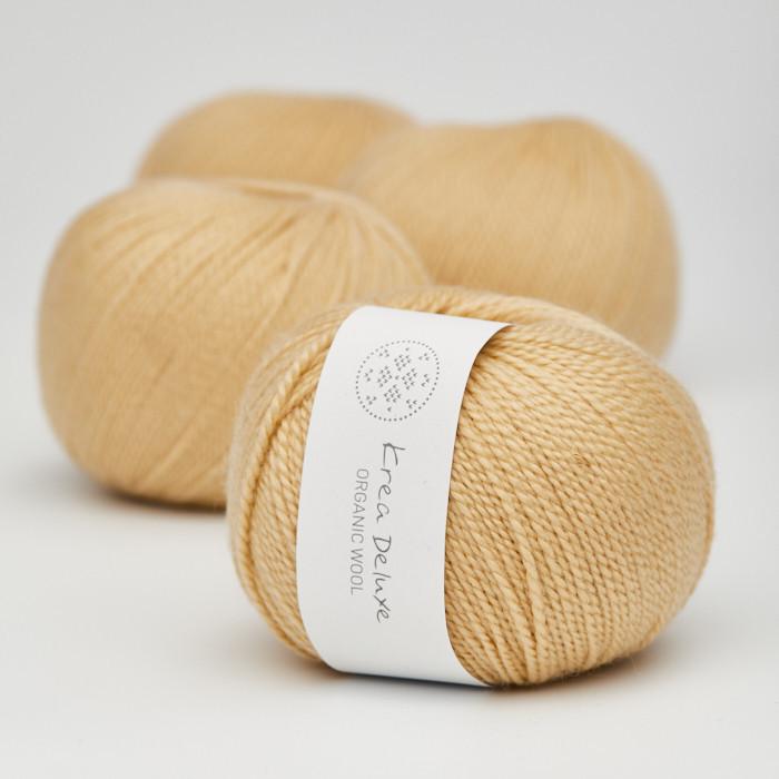 Organic Wool 1 (Neu) - Krea Deluxe in der Farbe W 05 Gelb