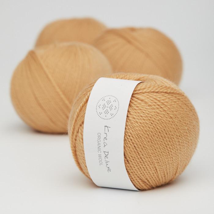 Organic Wool 1 (Neu) - Krea Deluxe in der Farbe W 06 Dunkelgelb