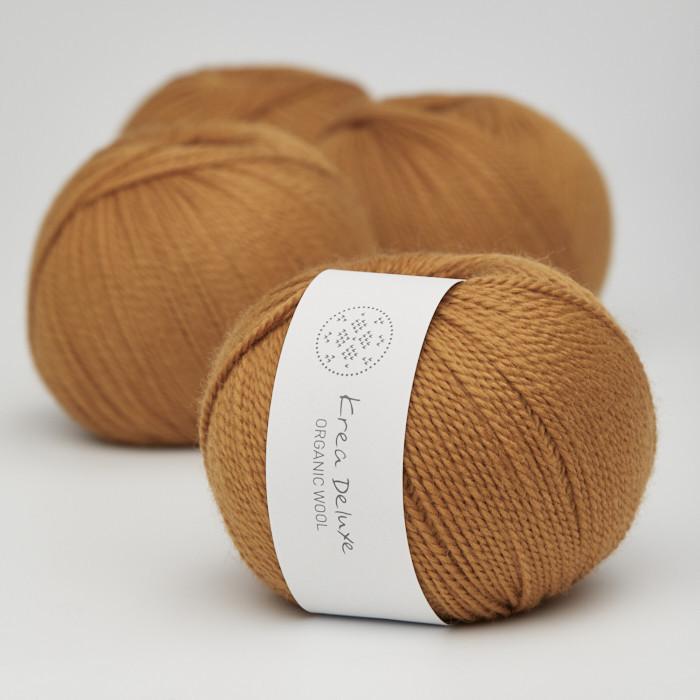 Organic Wool 1 (Neu) - Krea Deluxe in der Farbe W 09 Curry Gelb