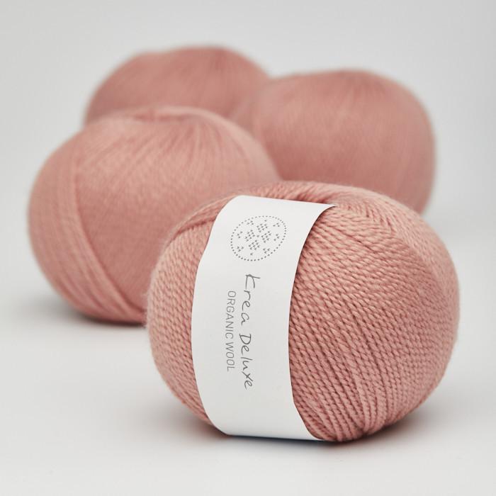 Organic Wool 1 (Neu) - Krea Deluxe in der Farbe W 10 Warmes Rosa