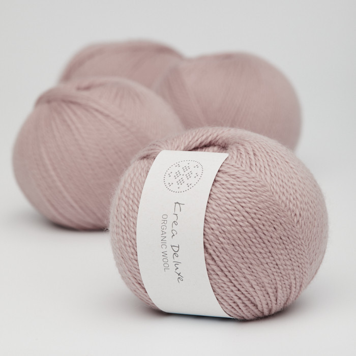 Organic Wool 1 (Neu) - Krea Deluxe in der Farbe W 14 Helles Altrosa