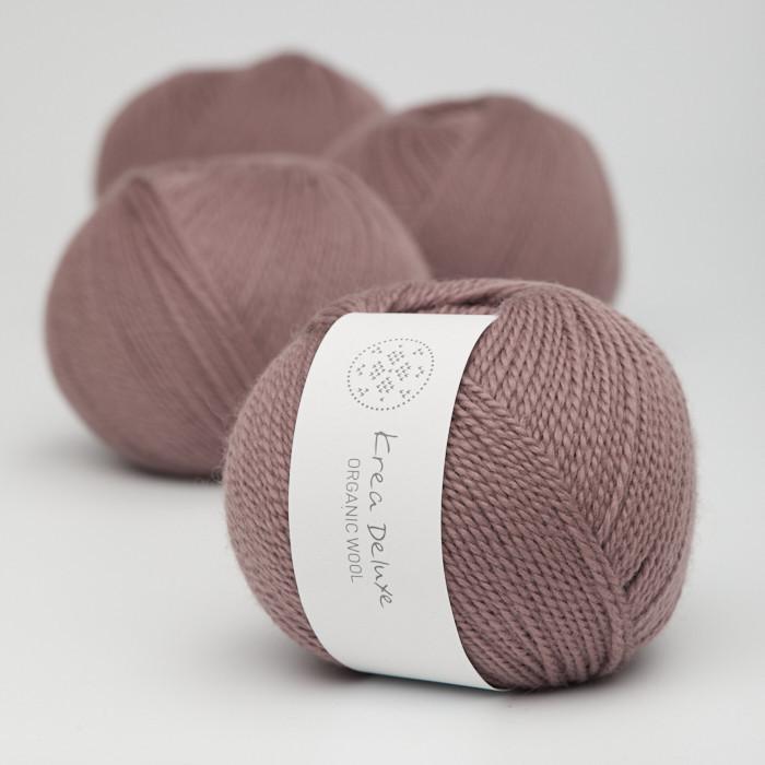 Organic Wool 1 (Neu) - Krea Deluxe in der Farbe W 16 Dunkles Altrosa