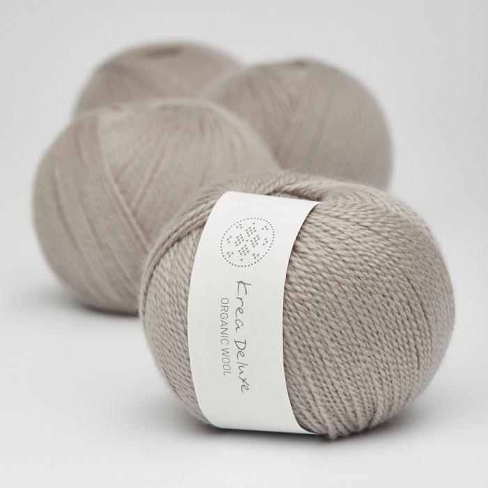 Organic Wool 1 (Neu) - Krea Deluxe in der Farbe W 19 Warmes Grau