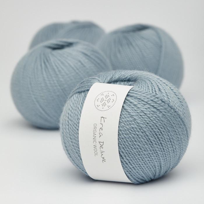 Organic Wool 1 (Neu) - Krea Deluxe in der Farbe W 25 Schmutziges Hellblau