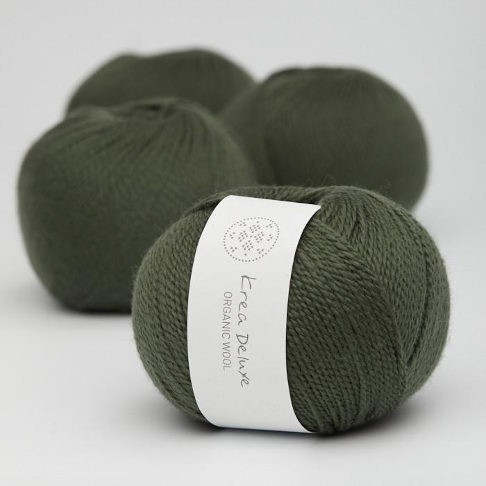 Organic Wool 1 (Neu) - Krea Deluxe in der Farbe W 36 Dunkelgrün