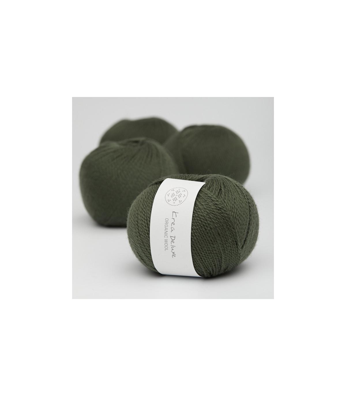 Wool 1 (Neu) - Krea Deluxe in der Farbe W 36 Dunkelgrün