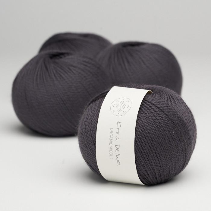 Organic Wool 1 (Neu) - Krea Deluxe in der Farbe W 43 Aubergine
