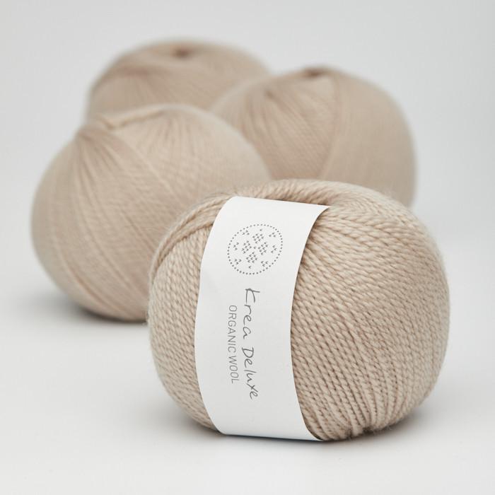 Organic Wool 1 (Neu) - Krea Deluxe in der Farbe W 46 Sand