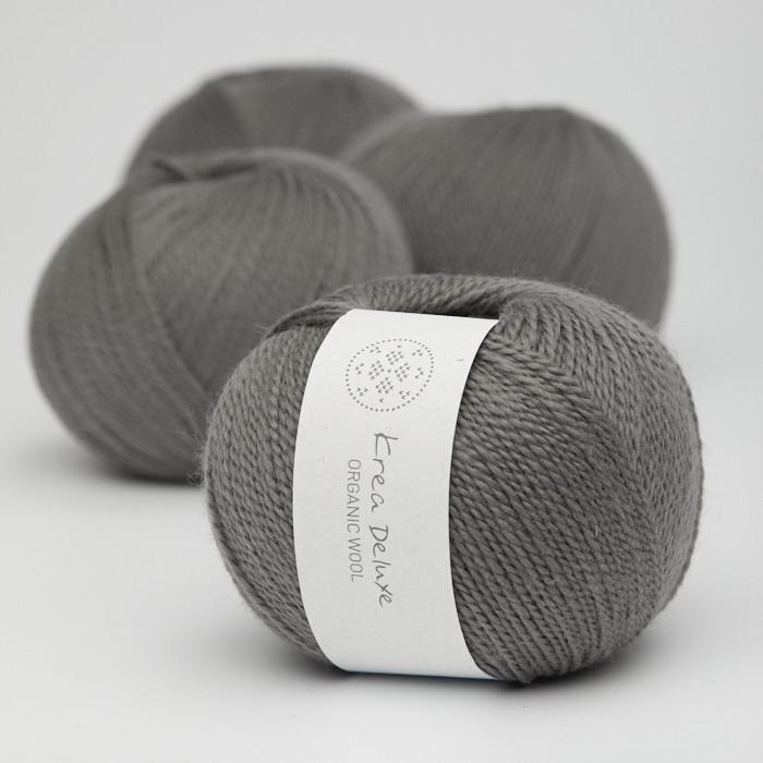 Organic Wool 1 (Neu) - Krea Deluxe in der Farbe W 50 Dunkelgrau
