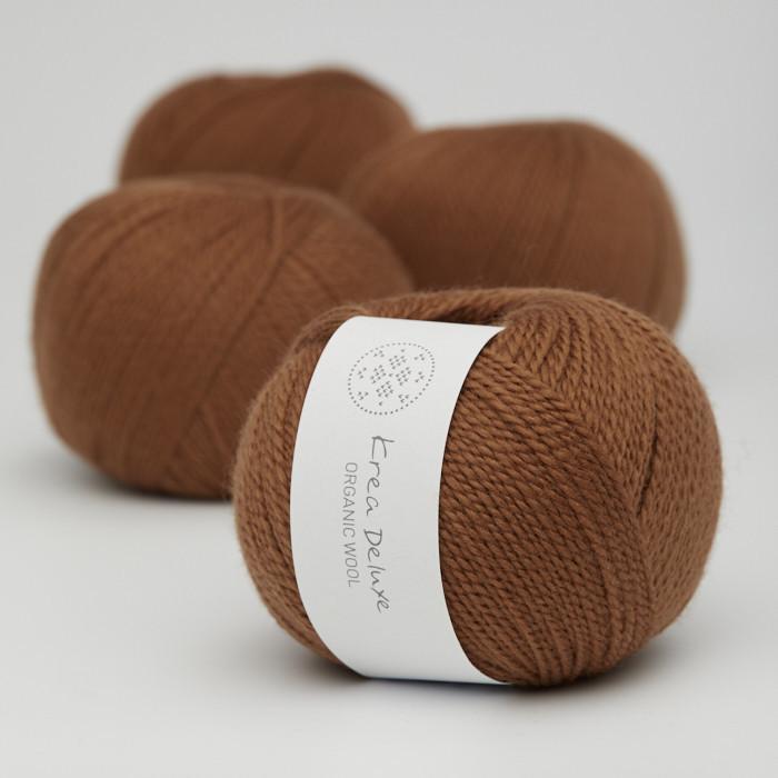 Organic Wool 1 (Neu) - Krea Deluxe in der Farbe W 52 Karamell