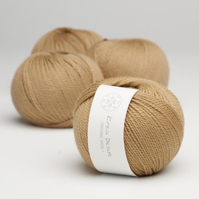 Organic Wool 1 (Neu) - Krea Deluxe in der Farbe W 53 Croissant