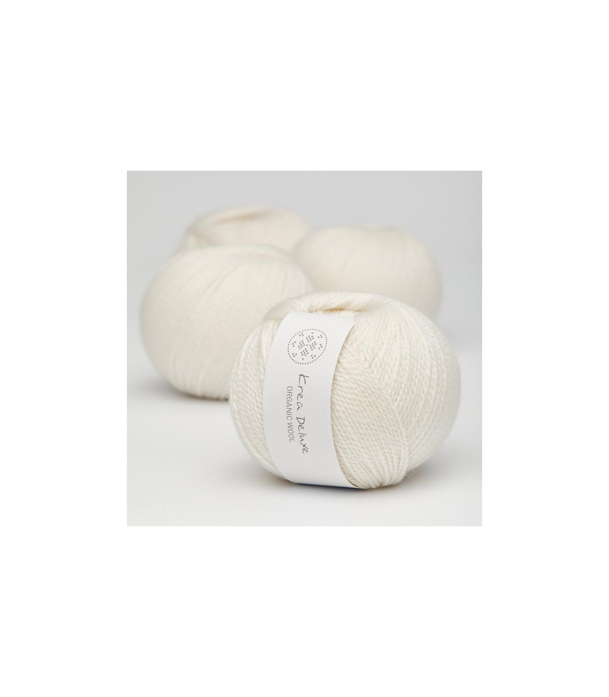 Wool 1 (Neu) - Krea Deluxe in der Farbe W 01 Natur Weiß